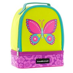 Crocodile Creek - Kids Lunchbox - Insulated Childrens Lunch Bag (Butterfly). Crocodile Creek http://www.amazon.com/dp/B00SG2063A/ref=cm_sw_r_pi_dp_Tn67wb0CHCFRE
