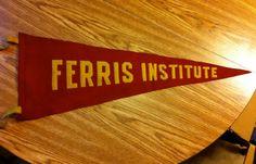 40's50's Vintage Ferris State University Felt by BmoreUnique, $65.00