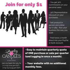 Today is the last day to join JIC for only $1.00! 7/15 Start working from home today and have that extra money to do the fun things in life! https://www.jewelryincandles.com/store/barbs