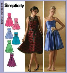 Simplicity 4070 - possible bridesmaid (the straighter skirt - not the puffy one)