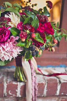 Fall has perhaps the greatest palette for your wedding flowers, with it rusty orange, rich red, rustic brown and deep purple! Oranges and browns are beautiful, but the spectrum of fall colours is much wider than that. Look to Halloween hues of purples and blacks,...
