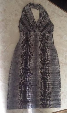 Tadashi collection animal print drees SIZE S #TADASHICOLLECTION #Cocktail