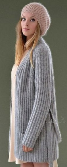 Cardigan by Kim Hargreaves Cardigan Au Crochet, Mohair Sweater, Cardigan Pattern, Knit Crochet, Crochet Headband Free, Sweater Weather, Crochet Clothes, Pulls, Knitwear