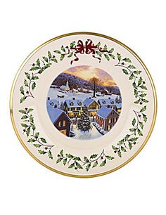 Lenox 2012 Annual Holiday Plate: 2012 Holiday Plate In Series - Gift Box Included Lenox Christmas, Christmas Plates, Christmas Tree, Dining Plates, Lenox China, Holiday Traditions, Home Kitchens, Horse Drawn