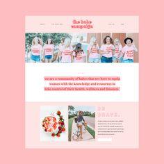 Pink Brand Inspiration For Elizabeth Ellery // Branding, Photography and Website Design Design Web, Clean Web Design, Logo Design, Website Design Layout, Website Design Inspiration, Web Layout, Free Design, Design Girl, Website Designs