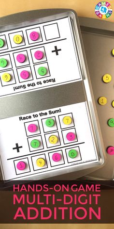 """I LOVE how this game requires students to use higher order thinking skills while practicing multi-digit addition!"""