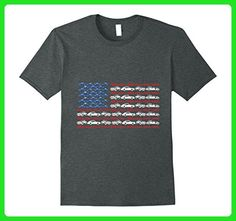 Mens Vintage Cars and Sports Cars American Flag T Shirt Gift Medium Dark Heather - Sports shirts (*Amazon Partner-Link)