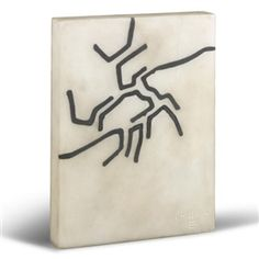 Trying to work out why I like inlay so much. This is fabulous! Eduardo Chillida, Untitled. Marble inlaid with lead