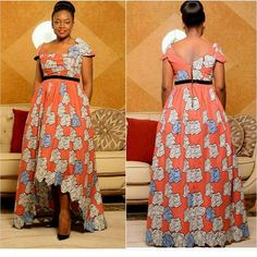 Simple Ankara Gown Style http://www.dezangozone.com/2016/07/simple-ankara-gown-style.html
