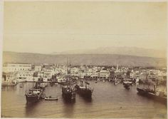 Chania port on Chania Crete, Greece Crete Island, Simple Photo, Crete Greece, Old Maps, Ottoman Empire, Vintage Photos, Paris Skyline, The Past, Old Things