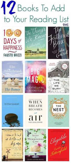 12 Books to Read in 2016 - The Chirping Moms. Some look interesting.