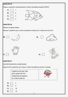 AVALIAÇÃO DIAGNÓSTICA 3º ANO PORTUGUÊS E MATEMÁTICA | Cantinho do Educador Infantil