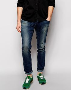 Sisley Jeans with Abrasions In Super Skinny Fit