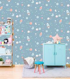 Tres Tintas Barcelona ha presentado su nueva colección, el popular estudio catalán Mr. Wonderful diseña varios papeles pintados para habitaciones infantiles