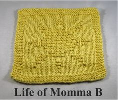 You are my Sunshine - dishcloth knitted from free pattern | The Life of Momma B