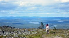 Hiking in Lemmenjoki, Finland