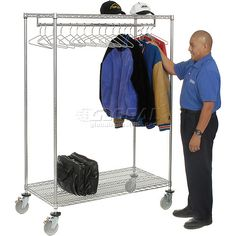 Portable And Expandable Garment Rack In Black Chrome 18 Months Portable And Expandable Garment Rack In Blackchrome