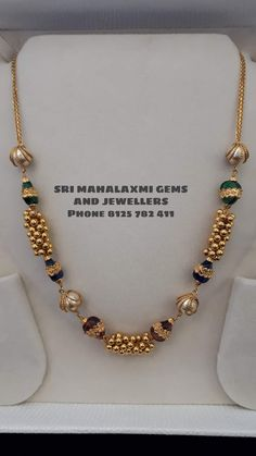 Let the queue begin from you. Presenting latest collection of balls chains. Visit for best designs at most competitive prices phone no 8125 782 411 . Gold Bangles Design, Gold Jewellery Design, Gold Necklace, Mango Necklace, Baby Necklace, Simple Necklace, Fancy Jewellery, Gold Jewelry Simple, Beaded Jewelry