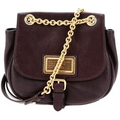 MARC BY MARC JACOBS 'Chain Reaction' shoulder bag (1.370 BRL) ❤ liked on Polyvore featuring bags, handbags, shoulder bags, purses, bolsas, bolsos, leather handbags, brown purse, handbags purses and leather shoulder bag