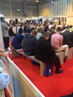 Our conference benches with seat pads in action! http://eventhireuk.com/gallery