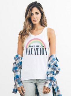 Take Me On Vacation Tank
