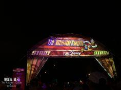 Start line of the runDisney Walt Disney World Half Marathon http://www.runnersguidetowdw.com/