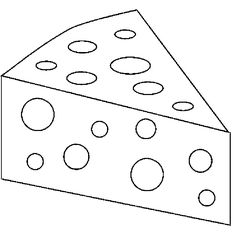 Slice Cheese Coloring Page | Cookie | Pinterest | Svg file and Clip art