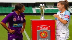 The captains of today's W-League grand finalists, Perth Glory's Sam Kerr and Melbourne City's Steph Catley captured beautifully by Ann Odong. 12.02.17