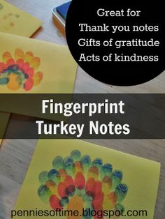 We are sharing our gratitude for others this month using these cute Fingerprint Turkey Notes!  Teach kids to serve.  #servingothers #actsofkindness
