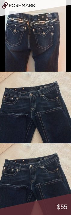 """Miss Me Jeans 32 /31 Miss Me Jeans size 32 with a 31"""" inseam. Great condition, stretchy and comfortable!                     PRICED TO SELL! No flaws, all bling intact! Miss Me Jeans Boot Cut"""