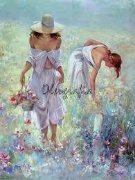 Resultado de imagem para pinturas de colheita de flores