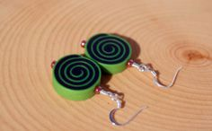 Trippy Spiral Earrings  Groovy Psychedelic… These would go great with your festival outfit!