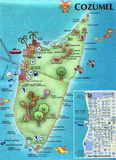 cozumel mexico map | cozumel map More