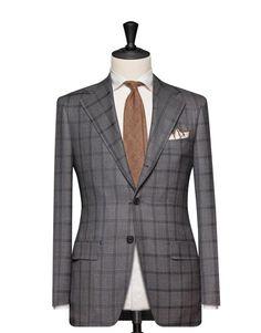 Tailored 2-Piece Suit - Fabric 4629 Windowpane Grey