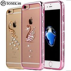 Rhinestone Case For iPhone 7 / 7 Plus Silicone Glitter Diamond Transparent Cover For iPhone 7 Plus Phone Bag Cases Coque Luxury
