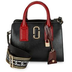 Marc Jacobs Women's Little Big Shot Satchel ($370) ❤ liked on Polyvore featuring bags, handbags, hibiscus multi, real leather purses, leather satchel purse, marc jacobs purse, handbag satchel and leather handbags