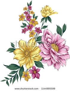 Find Traditional Flower Bunch stock images in HD and millions of other royalty-free stock photos, illustrations and vectors in the Shutterstock collection. Victorian Flowers, Vintage Flowers, Saree Painting, Pencil Drawings Of Flowers, Cherry Blossom Art, Illustration Blume, Floral Drawing, Elegant Flowers, Bunch Of Flowers