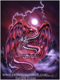 Red Dragon, Dragon In The Mist Artist Peter Pracownik