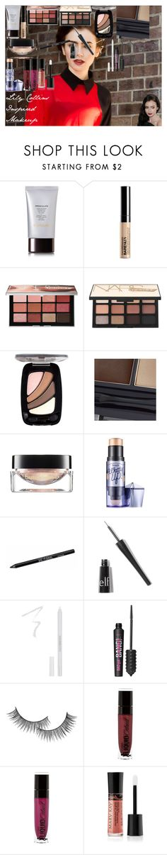 Lily Collins Inspired Makeup by oroartyellie on Polyvore featuring beauty, NARS Cosmetics, Hourglass Cosmetics, Benefit, Bare Escentuals, Urban Decay, Mary Kay, Models Own, L'Oréal Paris and Forever 21