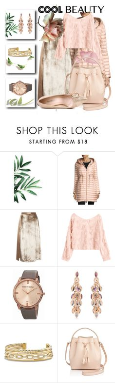 """COOL BEAUTY"" by drahuschka ❤ liked on Polyvore featuring Moncler, Michelle Mason, Harry Winston, Marie Mas, David Yurman and Céline Lefébure"