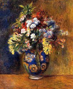 Flowers in a vase, 1878 / Pierre Auguste Renoir's painting