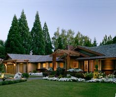 Remodeled ranch with craftsman-like porch. BHG