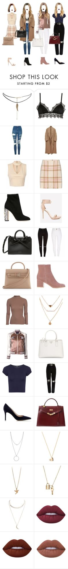 """Untitled #459"" by xxeucliffexx ❤ liked on Polyvore featuring ASOS, Ermanno Scervino Lingerie, Topshop, MARC CAIN, Dolce&Gabbana, Abella, Alexander Wang, Gianvito Rossi, NLY Trend and Guild Prime"