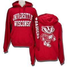 Due to the weather, I am now wearing this 24-7.  Thanks WI.    $49.99  Gear for Sports UW Hooded Sweatshirt (Red)