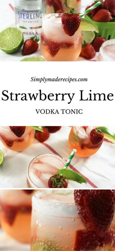 Strawberry Lime Vodka Tonic