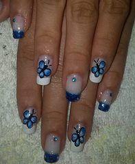 Modo Azul Uñas Decoradas Pinterest
