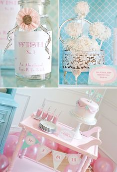 Such a sweet birthday theme for a little girl!