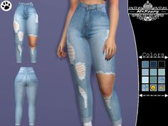 Enjoy these very high rise ripped jeans! Found in TSR Category 'Sims 4 Female Everyday' Sims 4 Tsr, Sims Cc, Sims 4 Mods Clothes, Sims 4 Clothing, The Sims 4 Jeans, Sims 4 Cc Folder, The Sims 4 Skin, Sims 4 Traits, The Sims 4 Cabelos