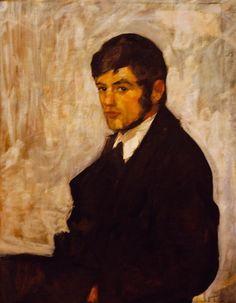 Henrik Lund (Norwegian, Portrait of Viggo Madsen, Oil on canvas, 67 x 52 cm Lund, Charming Man, Oil On Canvas, Portraits, Painting, Art, Impressionism, Norway, Painting Art