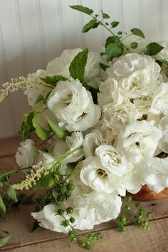 white flowers and green tomatoes  from love 'n' fresh flowers